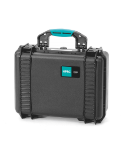 HPRC 2400 Hard Waterproof Case With Cubed Foam - Black / Turquoise