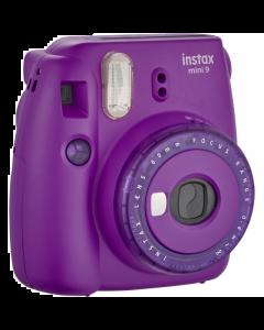 Fujifilm Instax Mini 9 Compact Instant Film Camera: Clear Purple