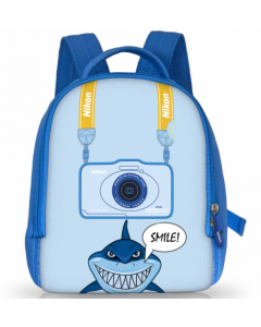 Nikon Children Shark Backpack - Blue