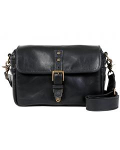 ONA Bowery Leather Messenger Bag: Black