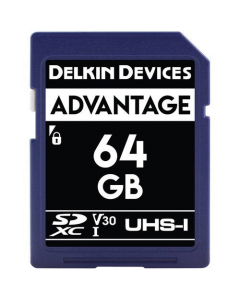Delkin Devices Advantage 64GB SD UHS-I V30 Memory Card