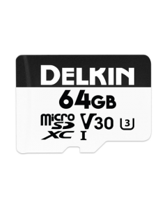Delkin Devices Advantage 64GB Micro SD XC UHS-I V30 Memory Card