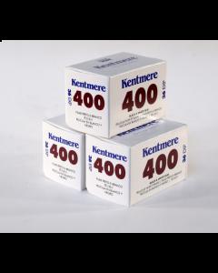 Kentmere Pan ISO 400 Black & White 36 Exposure 35mm Film - 3 Pack
