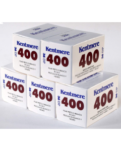 Kentmere Pan ISO 400 Black & White 36 Exposure 35mm Film - 5 Pack