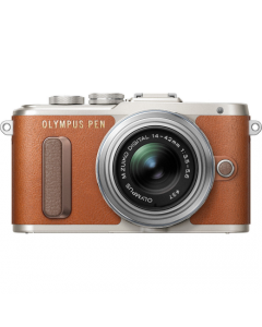 Olympus PEN E-PL8 Compact System Camera with 14-42mm II R Lens - Brown