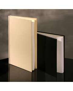 PermaJet SnapShut Folio Black Leather A4 Landscape - 25mm Spine