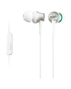 Sony MDR-EX450 Inear Headphones with Aluminium Housing and Microphone - White