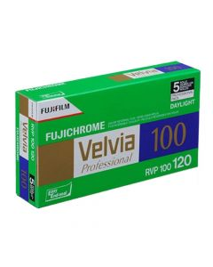 Fujifilm Fujichrome Velvia ISO 100 Colour 120 Roll Film - 5 Pack