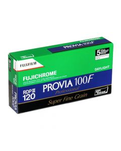 Fujifilm Fujichrome Provia 100F Colour 120 Roll Film - 5 Pack