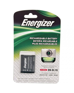 Energizer Nikon EN-EL19 Replacement Li-Ion Recheargeable Camera Battery