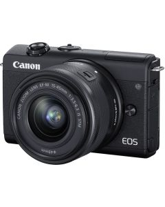 Canon EOS M200 Digital Camera with 15-45mm F3.5-6.3 IS STM Lens: Black