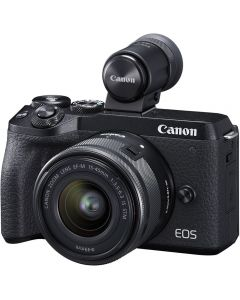 Canon EOS M6 Mark II Mirrorless Digital Camera with 15-45mm IS STM Lens